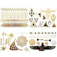 8 Pcs All Different Patterns Long Bracelets/Necklace/Totem Tattoo Sticker (Random Patterns)23x15.5CM