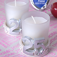 25th Anniversary Silver Wedding Candle(set of 4)