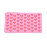 55-slot szív alakú szilikon torta keksz sütőformába tálca penész bakeware (rózsaszín)