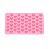 55-sleuf hartvormig siliconen koekje taart bakvorm lade mal bakvormen (roze)
