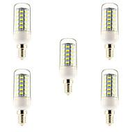 10W E14 / G9 / E26/E27 LED Corn Lights T 48 SMD 5730 1000 lm Warm White / Natural White AC 220-240 V 5 pcs