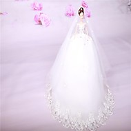White Snow Queen Beautiful Wedding Dress Toy