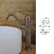 Moderne Centersat Enkelt håndtag Et Hul in Antik Kobber Håndvasken vandhane