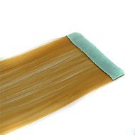 Long Straight Tapes Synthetic Extension 2 Pcs Coffee
