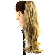 klauw clip synthetisch 22 inch mix blond lang krullend paardenstaart