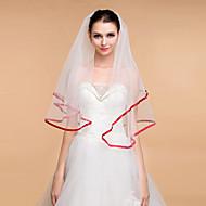 Wedding Veils Women's Elegant Tulle Rhinestone One-tier Ribbon Edge Veils
