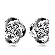 Stolpe Øredobber Sterling Sølv Earring Dame Kubisk Zirkonium