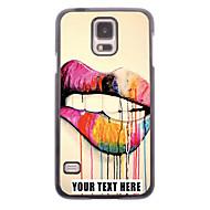 gepersonaliseerde telefoon case - lippen ontwerp metalen behuizing voor Samsung Galaxy S5 i9600
