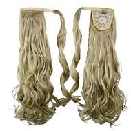 utmerket kvalitet syntetisk klippet i hestehale 26 cm lang krøllete hår brikke