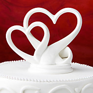 Cake Toppers Classic Double Ceramic Hearts  Cake Topper