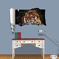 3D Wall Stickers Wall Decals, Tiger Decor Vinyl Wall Stickers
