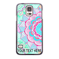 Personalized Phone Case - Half Of Flower Design Metal Case for Samsung Galaxy S5 I9600