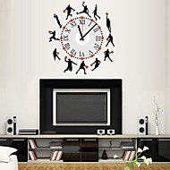 Wall Clock Stickers Wall Decals, Basketball Shapes and Battery Feature Removable  PVC Wall Stickers