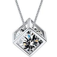 Halsband Cubic Zirconia DamJubileum/Bröllop/Förlovning/Födelsedag/Gåva/Party/Dagligen/Speciellt Tillfälle/Casual/Kontor och