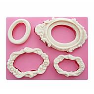 cadres de miroir en forme de gâteau outils d'artisanat moules moule Fondant silicone savon de bougie de sucre de décoration sm-249