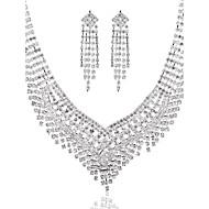 Luxurious Ladies'/Women's Alloy Wedding/Party Jewelry Set With Rhinestone