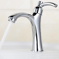 Thickening Fast-Opening Single Cold Bathroom Basin Faucet - Silver