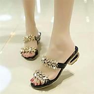 Women's Shoes Chunky Heel Peep Toe Sandals Dress Black/White/Gold