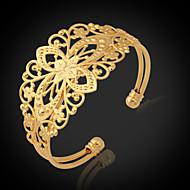 u7® vintage náramky pro ženy 18k tlustý zlato se plnilo pozlacené manžeta náramek šperky