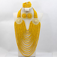 Luxury Multistrands Costume African Big Jewelry Sets Nigerian Party Beads Women Jewelry Set