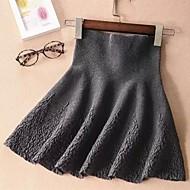 Women's Blue/Red/Black/Green/Gray Skirts , Print Mini