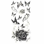 1 Tatoveringsklistremerker Blomster Serier Mønster Korsryggen VanntettDame Voksen Tenåring Flash-tatovering midlertidige Tatoveringer