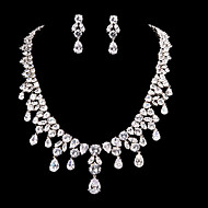 Jewelry Set Women's Anniversary / Wedding / Engagement Jewelry Sets Cubic Zirconia / Alloy Earrings / Necklaces Silver