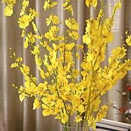1 Ramo Seda Plástico Orquideas Flor de Mesa Flores artificiais 94 5 5
