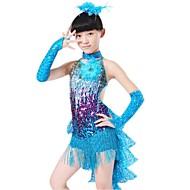 Shall We Latin Dance Children Polyester/Lycra Dress/Neckwear/Gloves Costumes