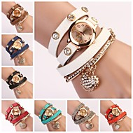 Women's Round Dial Multi-layer Band Heart Pendant Quartz Analog Fashion Bracelet Watch (Assorted Color) Cool Watches Unique Watches