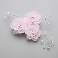 Capacete Pentes de Cabelo/Flores Casamento/Ocasião Especial Liga/Imitação de Pérola/Zircônia Cubica Mulheres/Menina das Flores