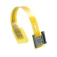 GSM-CDMA standaard uim simkaart kit man naar vrouw uitbreiding zachte platte fpc kabel extender 10cm