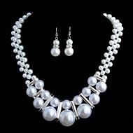 Damen Schmuck-Set Ohne Stein Künstliche Perle