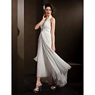Lanting Sheath/Column Wedding Dress - Ivory Asymmetrical Halter Chiffon
