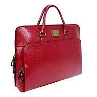 Dla kobiet - Torba na laptop - Czerwony / Srebrny Polichlorek winylu