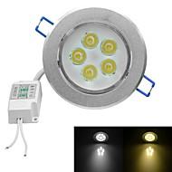 jiawen® 5W 450-500lm 3000-3200k / 6000-6500k luz quente branco / branco luzes led receseed (AC 100-240V)