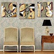 e-HOME lona envuelta arte instrumentos musicales Conjunto de la decoración de pintura de 3