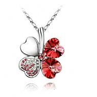 Halsband (Legering , Purpur/Blå/Grön/Rosa/Röd/Gul) - till Kristall/Cubic Zirconia