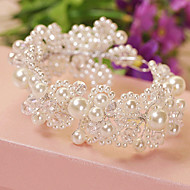 Women's Alloy / Imitation Pearl Headpiece-Wedding Headbands White