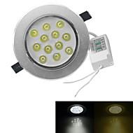 jiawen® 12waty 1080-1200lm 3000-3200k / 6000-6500k teplá bílá / bílá světla vedl receseed světla (ac 100-240V)