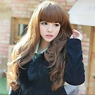 Angelaicos Womens Lolita Style Bangs Girls Cute Wavy Brown Blonde Black Long Charming Sexy Nightclub Party Full Wigs