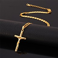 Necklace Gold Plated Pendant Necklaces Jewelry Birthday / Daily Fashion / Adjustable Gold Plated Gold / Black / Silver 1pc Gift
