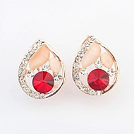 Women's Exquisite Fashion Sweet Droplets Stud Earrings (More Colors)