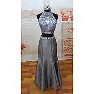 Homecoming Prom/Formal Evening Dress Trumpet/Mermaid High Neck Floor-length Satin Dress