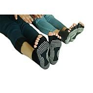 non-slip peep-toe yoga sokken