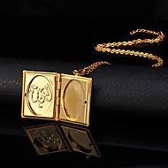 Dames Hangertjes ketting Medaillons Kettingen Koper Verguld 18K goud Modieus Sieraden Bruiloft 1 stuks