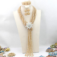 Exclusive New Crystal Beads African Jewelry Sets Hot Selling Party Beads Women Jewelry Necklace Set