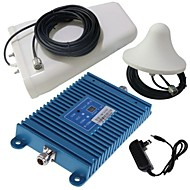 Intelligence LCD Display Dual Band GSM/3G 900/2100MHz Mobile Phone Signal Booster Amplifier + Antenna Kit