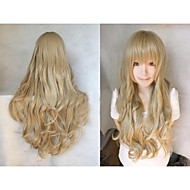 Angelaicos Womens Kurumizawa Ume Beautiful Lolita Girls Wavy Halloween Costume Cosplay Hair Full Party Wigs Long Blonde