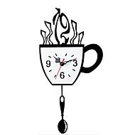 lc1010 אילם שעון מטוטלת כוס קפה שעון קיר מקורי